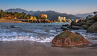 Fine Art Landscape Photograph of Banderas Bay in Puerto Vallarta, Mexico.<br />