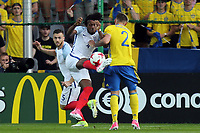 Nathaniel Chalobah of England   and Linus Wahlqvist of Sweden during Sweden Under-21 vs England Under-21, UEFA European Under-21 Championship Football at The Kolporter Arena on 16th June 2017