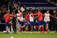 8th February 2020; Wanda Metropolitano Stadium, Madrid, Spain; La Liga Football, Atletico de Madrid versus Granada; Stefan Savic (Atletico de Madrid)  Pre-match warm-up