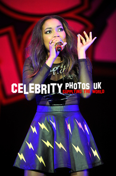 Dionne Bromfield performing at the Girlguiding Big Gig 2013 at Wembley Arena in London. 12th October 2013