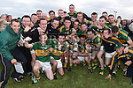 Cooley Kickhams celebrate their promotion into division 1. Photo:Colin Bell/pressphotos.ie
