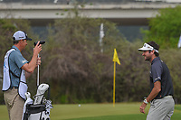 Bubba Watson (USA) is all smiles after chipping up tight on 12 for the potential win during day 5 of the World Golf Championships, Dell Match Play, Austin Country Club, Austin, Texas. 3/25/2018.<br /> Picture: Golffile | Ken Murray<br /> <br /> <br /> All photo usage must carry mandatory copyright credit (© Golffile | Ken Murray)