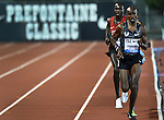 Mo Farah of Great Britain runs in the Men's 10000 meter run on the opening day of the Prefontaine Classic at Hayward Field in Eugene, Oregon, USA, 29 MAY 2015. (EPA Photo by Steve Dykes)
