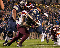 Pitt running back James Conner scores. The Virginia Tech Hokies defeated the Pitt Panthers 39-36 on October 27, 2016 at Heinz Field in Pittsburgh, Pennsylvania.