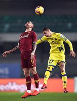 Aleksandar Kolarov of AS Roma , Fabio Depaoli of AC Chievo Verona <br /> Verona 8-2-2019 Stadio Bentegodi Football Serie A 2018/2019 Chievo Verona - AS Roma <br /> Foto Image Sport / Insidefoto