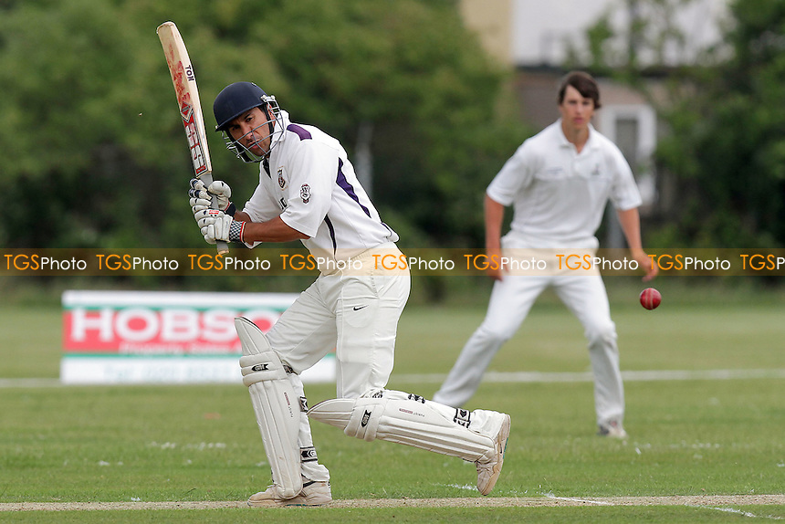 Ashfaq Ahmed in batting action for Hainault - Hainault & Clayhall CC (batting) vs Wanstead CC - Essex Cricket League - 09/07/11 - MANDATORY CREDIT: Gavin Ellis/TGSPHOTO - Self billing applies where appropriate - Tel: 0845 094 6026 - contact@tgsphoto.co.uk