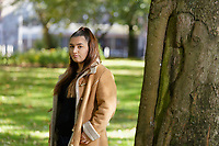 Pictured: 18-year-old student Anita Salimi at St Mary's Church in Swansea, Wales, UK. Saturday 29 September 2018<br /> Re: Story about Anita Salimi who has been experiencing sleep problems.