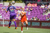 Orlando, FL - Saturday June 24, 2017: Marta, Janine van Wyk during a regular season National Women's Soccer League (NWSL) match between the Orlando Pride and the Houston Dash at Orlando City Stadium.
