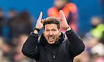 Coach Diego Simeone of Atletico de Madrid reacts during their La Liga 2016-17 match between Atletico de Madrid vs Real Betis Balompie at the Vicente Calderon Stadium on 14 January 2017 in Madrid, Spain. Photo by Diego Gonzalez Souto / Power Sport Images