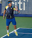 Michael Berrer (GER) loses the first set to Jack Sock (USA) at the CitiOpen in Washington, D.C., Washington, D.C.  District of Columbia on July 29, 2014.