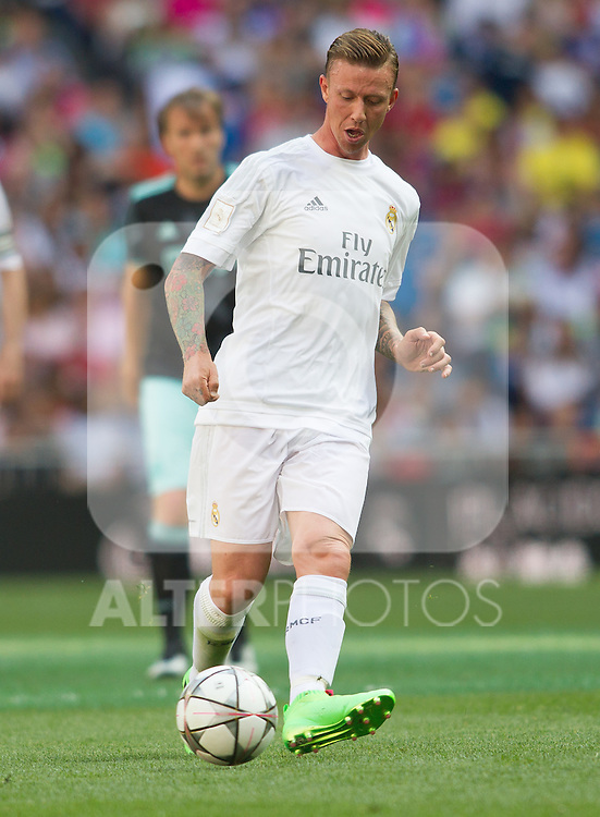 Jose Maria Gutierrez Guti during the Corazon Classic Match 2016 at Estadio Santiago Bernabeu between Real Madrid Legends and Ajax Legends. Jun 5,2016. (ALTERPHOTOS/Rodrigo Jimenez)