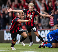 Bournemouth's Ryan Fraser celebrates scoring the opening goal <br /> <br /> Photographer David Horton/CameraSport<br /> <br /> The Premier League - Bournemouth v Cardiff City - Saturday August 11th 2018 - Vitality Stadium - Bournemouth<br /> <br /> World Copyright &copy; 2018 CameraSport. All rights reserved. 43 Linden Ave. Countesthorpe. Leicester. England. LE8 5PG - Tel: +44 (0) 116 277 4147 - admin@camerasport.com - www.camerasport.com