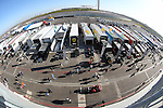 A fish eye lense view of the pit area during the Continental Tire Challenge race at the Circuit of the Americas race track in Austin,Texas...