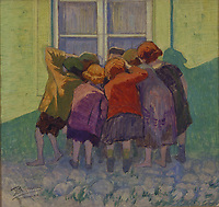 Moshe Rynecki painting - children<br /> Chasing Portraits (2018) <br /> *Filmstill - Editorial Use Only*<br /> CAP/RFS<br /> Image supplied by Capital Pictures