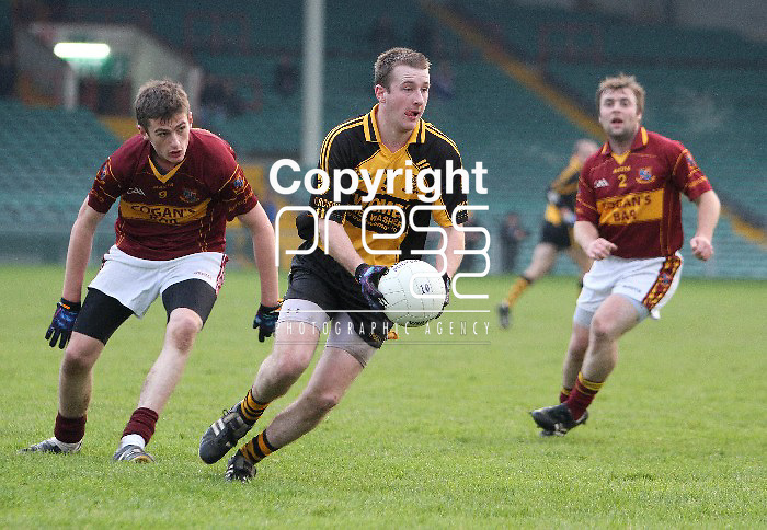 23/11/13 St Joseph's Conor Cleary keeps an eye on Clyda Rovers Chris Buckley when the two sides met in The Gaelic Grounds for the Munster Intermediate Final on Saturday. Pic Tony Grehan / Press 22