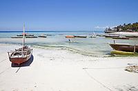 Kizimkazi Dimbani, Zanzibar. Harbor Scene.