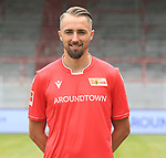 06.07.2019, Stadion an der Wuhlheide, Berlin, GER, 2.FBL, 1.FC UNION BERLIN , Mannschaftsfoto, Portraits, <br /> DFL  regulations prohibit any use of photographs as image sequences and/or quasi-video<br /> im Bild Florian Huebner (1.FC Union Berlin #19)<br /> <br /> <br />      <br /> Foto © nordphoto / Engler