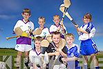 FUN AND GAMES: Young hurlers taking part in the GAA Cu?l Camp in Abbeydorney last week, front l-r: Kyle Lyne-Moynihan, Jack Sheahan, Denis Nolan. Back l-r: Shane Donovan, Sean Murphy, Keith O'Connor, Caoimhe Spillane.