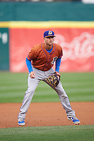 Durham Bulls third baseman Jake Hager (5) during a game against the Buffalo Bisons on June 13, 2016 at Coca-Cola Field in Buffalo, New York.  Durham defeated Buffalo 5-0.  (Mike Janes/Four Seam Images)