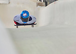 9 January 2016: Alexander Mutovin, competing for Russia, crosses the finish line on his second run of the day during the BMW IBSF World Cup Skeleton Championships at the Olympic Sports Track in Lake Placid, New York, USA. Mutovin ended the day with a combined 2-run time of 1:51.01 and a 14th place overall finish. Mandatory Credit: Ed Wolfstein Photo *** RAW (NEF) Image File Available ***