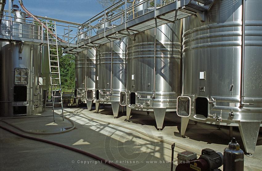 Fermentation tanks. Chateau Giscours, Margaux, Medoc, Bordeaux, France