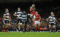 Wales Josh Adams catches the high ball <br /> <br /> Photographer Ian Cook/CameraSport<br /> <br /> 2019 Autumn Internationals - Wales v Barbarians - Saturday 30th November 2019 - Principality Stadium - Cardifff<br /> <br /> World Copyright © 2019 CameraSport. All rights reserved. 43 Linden Ave. Countesthorpe. Leicester. England. LE8 5PG - Tel: +44 (0) 116 277 4147 - admin@camerasport.com - www.camerasport.com