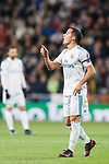 Lucas Vazquez of Real Madrid gestures during the Europe Champions League 2017-18 match between Real Madrid and Borussia Dortmund at Santiago Bernabeu Stadium on 06 December 2017 in Madrid Spain. Photo by Diego Gonzalez / Power Sport Images