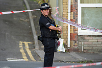 Pictured: A general view of High Street in Swansea, Wales, UK. Thursday 18 July 2019<br /> Re: Two people have been arrested following a serious assault which left a man in hospital.<br /> South Wales Police said it was called to High Street, Swansea, near to the disused Palace Theatre, at about 15:10 BST.