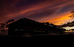 AUG 17: The sun sets on Pacific Classic day at The Del Mar Thoroughbred Club in Del Mar, California on August 17, 2019. Evers/Eclipse Sportswire/CSM