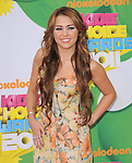Miley Cyrus attends The 24th Annual Kids' Choice Awards held at USC's Galen Center in Los Angeles, California on April 02,2011                                                                               © 2010 DVS / Hollywood Press Agency