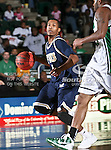 Florida International University Panthers guard Antoine Watson (1) drives the ball down court in the NCAA  basketball game between the Florida International University Panthers and the University of North Texas Mean Green at the North Texas Coliseum,the Super Pit, in Denton, Texas. UNT defeated FIU 87 to 77