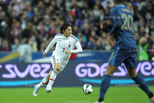 Yasuhito Endo (JPN), .OCTOBER 12, 2012 - Football / Soccer : Yasuhito Endo of Japan in action during the International Friendly Match between France 0-1 Japan at Stade de France, Paris, France..(Photo by AFLO) [2268]