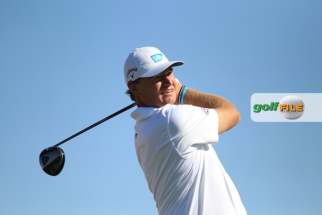 Ernie Els (RSA) on the 3rd tee during the second round at the Abu Dhabi HSBC Golf Championship in the Abu Dhabi golf club, Abu Dhabi, UAE..Picture: Fran Caffrey/www.golffile.ie.