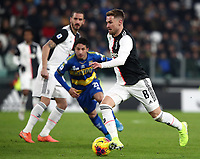 Calcio, Serie A: Juventus - Parma, Turin, Allianz Stadium, January 19, 2020.<br /> Juventus' Aaron Ramsey (r) during the Italian Serie A football match between Juventus and Parma at the Allianz stadium in Turin, January 19, 2020.<br /> UPDATE IMAGES PRESS/Isabella Bonotto