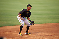 Bradenton Marauders third baseman Ke'Bryan Hayes (31) during a game against the Tampa Yankees on April 15, 2017 at George M. Steinbrenner Field in Tampa, Florida.  Tampa defeated Bradenton 3-2.  (Mike Janes/Four Seam Images)