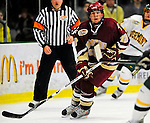 9 January 2009: Boston College Eagles' forward Ben Smith, a Junior from Avon, CT, in action during the first game of a weekend series against the University of Vermont Catamounts at Gutterson Fieldhouse in Burlington, Vermont. The Catamounts scored with one second remaining in regulation time to earn a 3-3 tie with the visiting Eagles. Mandatory Photo Credit: Ed Wolfstein Photo
