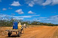 Transporte de agua em carroça, Lajes. Rio Grande do Norte. 2015. Foto de Meysa Medeiros