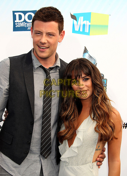 13 July 2013 - Vancouver, British Colombia, Canada - Glee star Cory Monteith was found dead Saturday in his hotel room at the Fairmont Pacific Rim Hotel in Vancouver. He was 31. The cause of death was not immediately apparent. An autopsy was set for Monday. According to police, there were no indications of foul play. They would not discuss what, if anything, was found in room. File Photo: 19 August 2012 - Santa Monica, California - Cory Monteith, Lea Michele. 2012 Do Something Awards held at Barker Hangar<br /> CAP/ADM/RE<br /> &copy;Russ Elliot/AdMedia/Capital Pictures