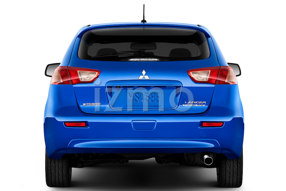 Straight rear view of a 2012 Mitsubishi Lancer Sportback GT