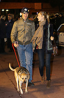 Pierre Casiraghi walks his dog with Beatrice Borroneo at the historical Monte-Carlo Rallye