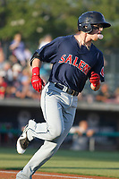Salem Red Sox infielder Brett Netzer (13) at bat during a game against the Myrtle Beach Pelicans at Ticketreturn.com Field at Pelicans Ballpark on June 8, 2018 in Myrtle Beach, South Carolina. Myrtle Beach defeated Salem 5-4. (Robert Gurganus/Four Seam Images)