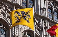 Belgien, Flandern, Rathaus am Grote Markt in Mechelen