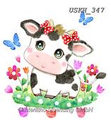 Kayomi, CUTE ANIMALS, LUSTIGE TIERE, ANIMALITOS DIVERTIDOS, paintings+++++,USKH347,#ac#, EVERYDAY ,sticker,stickers ,cow,cows