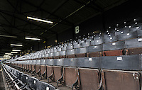 A general view of seats in the west stand of the Recreation Ground. European Rugby Champions Cup match, between Bath Rugby and RC Toulon on January 23, 2016 at the Recreation Ground in Bath, England. Photo by: Patrick Khachfe / Onside Images