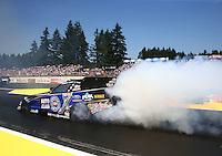 Aug. 3, 2014; Kent, WA, USA; NHRA funny car driver Robert Hight during the Northwest Nationals at Pacific Raceways. Mandatory Credit: Mark J. Rebilas-