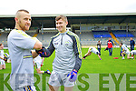 Barry John Keane and James O'Donoghue Kerry Senior footballers at their press day at Fitzgerald Stadium on Saturday.