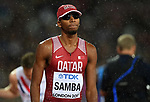 Abderrahaman SAMBA (QAT) in the mens 400m hurdles final. IAAF world athletics championships. London Olympic stadium. Queen Elizabeth Olympic park. Stratford. London. UK. 09/08/2017. ~ MANDATORY CREDIT Garry Bowden/SIPPA - NO UNAUTHORISED USE - +44 7837 394578
