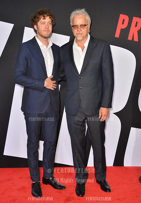 Jack Henry Robbins &amp; Tim Robbins at the premiere for &quot;Blockers&quot; at the Regency Village Theatre, Los Angeles, USA 03 April 2018<br /> Picture: Paul Smith/Featureflash/SilverHub 0208 004 5359 sales@silverhubmedia.com