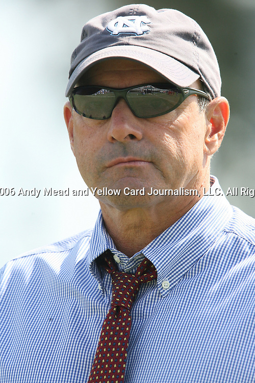 UNC assistant coach Bill Palladino on Sunday September 17th, 2006 at Koskinen Stadium on the campus of the Duke University in Durham, North Carolina. The University of North Carolina Tarheels defeated the University of Florida Gators 1-0 in an NCAA Division I Women's Soccer game.