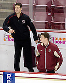 Mike Feeley (BC - Student Manager), Stephen Greenberg (BC - Student Manager) - The Boston College Eagles defeated the Northeastern University Huskies 5-1 on Saturday, November 7, 2009, at Conte Forum in Chestnut Hill, Massachusetts.